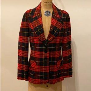 Vintage Bobbie Brooks blazer plaid